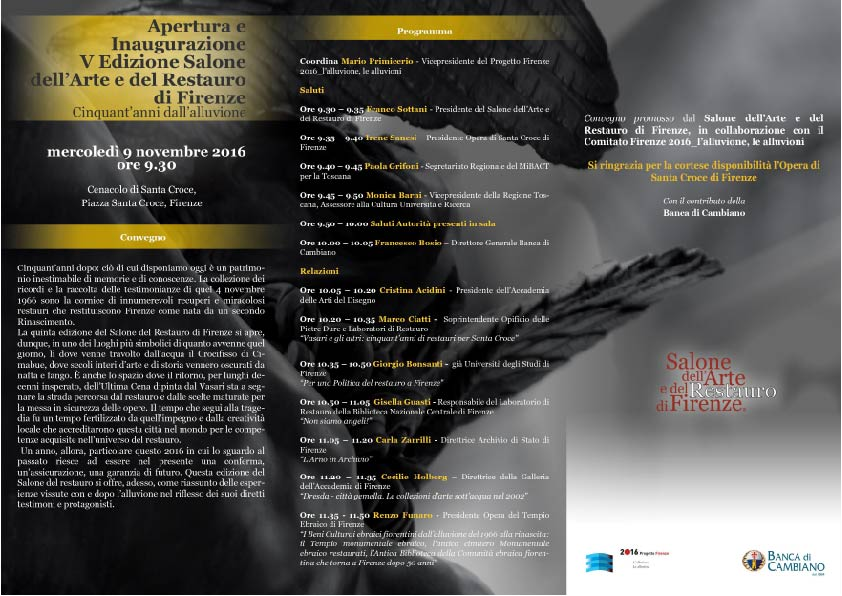 Inaugurazione V Edizione Salone dell'Arte e del Restauro
