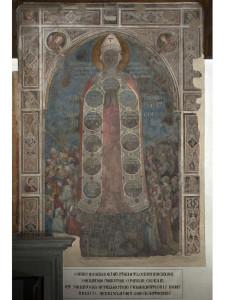 Affresco della Madonna della Misericordia, attribuito a Bernardo Daddi e bottega, 1342 prima del restauro