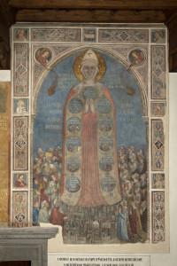 1.Affresco della Madonna della Misericordia, attribuito a Bernardo Daddi e bottega, 1342 dopo il restauro