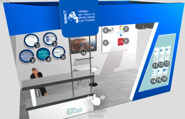 Visita lo Stand in 3D del MiBACT